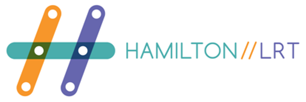 New logo of the local LRT advocacy run by Hamilton residents