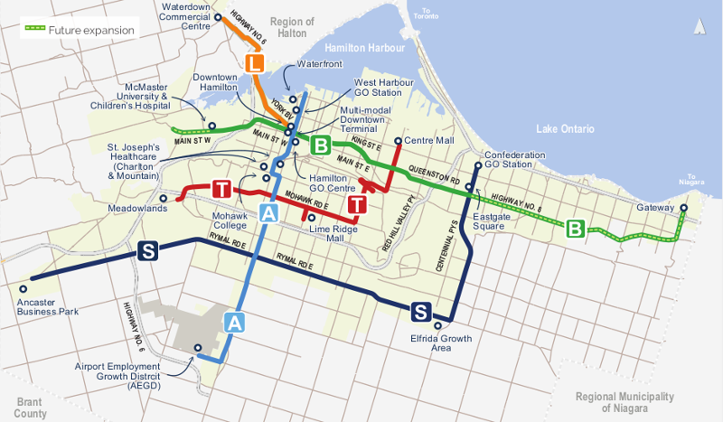 BLAST network of rapid transit lines