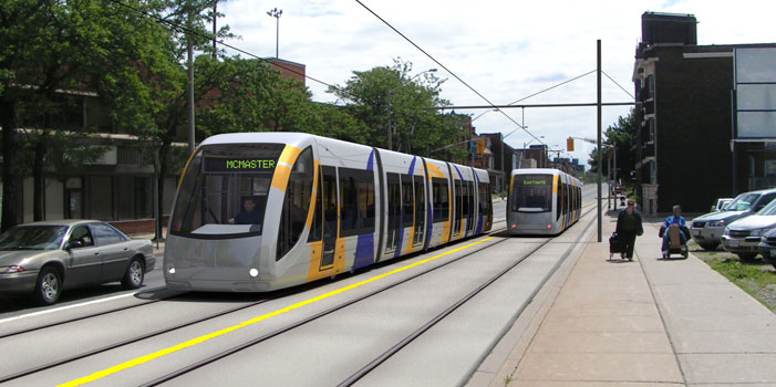 Rendering of proposed LRT in Hamilton