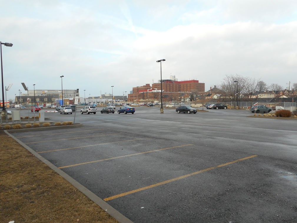 Current HHS parking lot (RTH file photo)