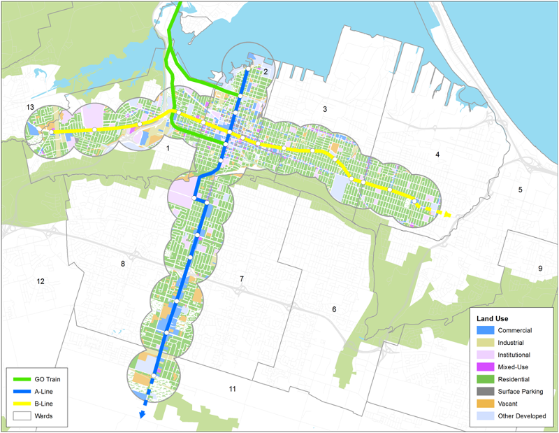 Phased B-Line LRT and A-Line BRT