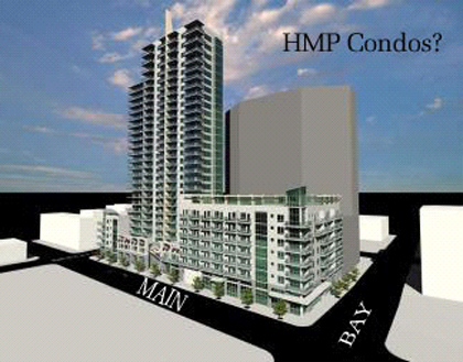 A possible arrangement of mixed-use buildings for the HMP block