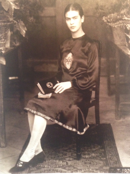 Photo of Frida at 19. Taken by her photographer father, in 1926.