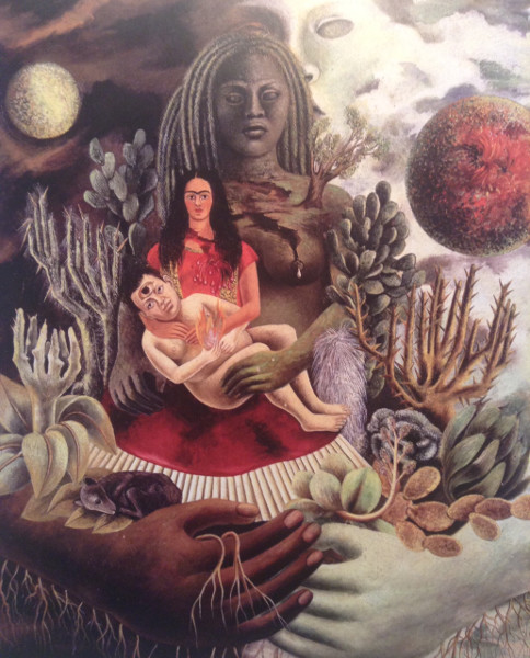 Detail, 'Love Embrace of the Universe' by Frida Kahlo (1949).