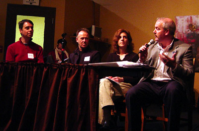 The panel (from left): Nicholas Kevlahan, Chris Harrison, Lynda Lukasic, and Scott Stewart