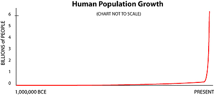 Human Population Growth since 1,000,000 BCE