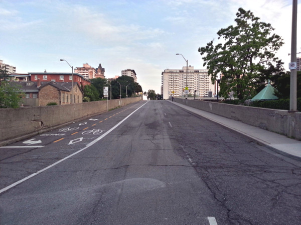 Hunter Street: highway speeds on a street designed like a highway (RTH file photo)