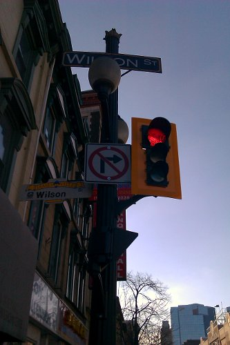 No right turn from James onto York