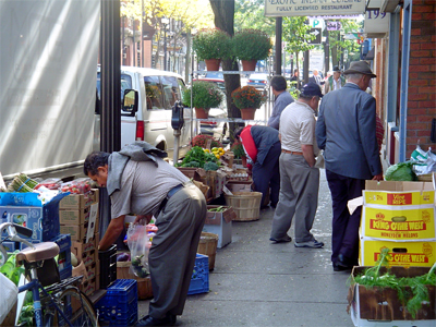 Vendors on James North (RTH file photo)