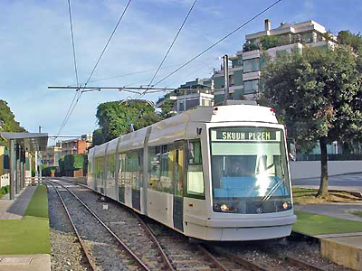 The 06 T low-floor tramcar in Cagliari, Italy. (Image Credit: Railway-Technology.com)