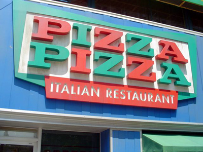 Pizza Pizza sign gets a new look
