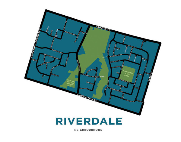 Jelly Bros map of Riverdale neighbourhood