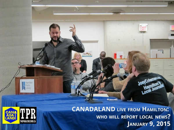 CANADALAND event on January 9, 2015 with Jesse Brown