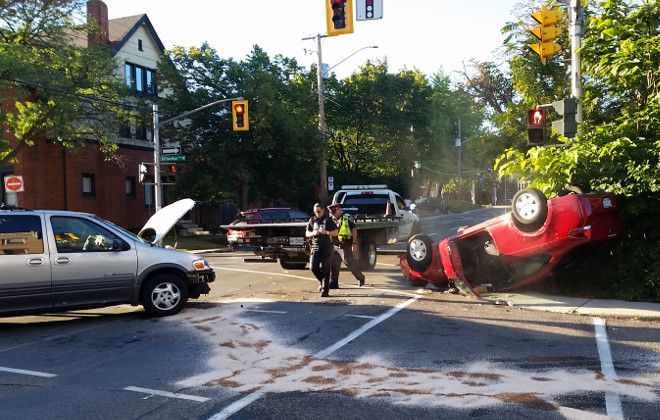 Collision at Queen and Charlton