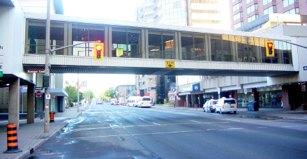Elevated walkways: not a solution for unfriendly streets but an admission of failure