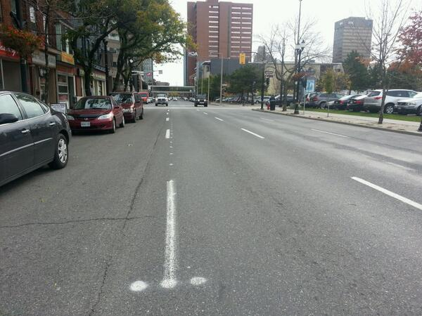 Markings on King West for the transit lane (RTH file photo)