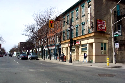 The north side of King W. features