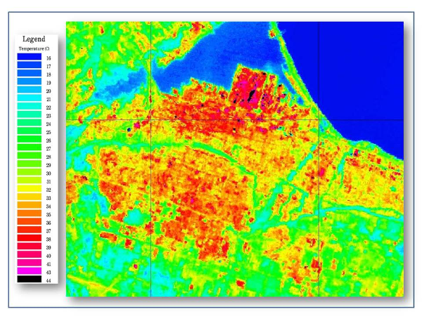 Landset 7 ETM+ Image of the Hamilton Area (Image Credit: Clean Air Partnership)