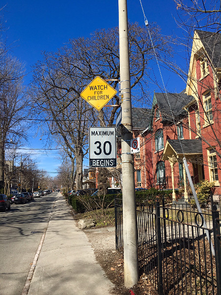 30 km/h speed limit on Toronto street (RTH file photo)