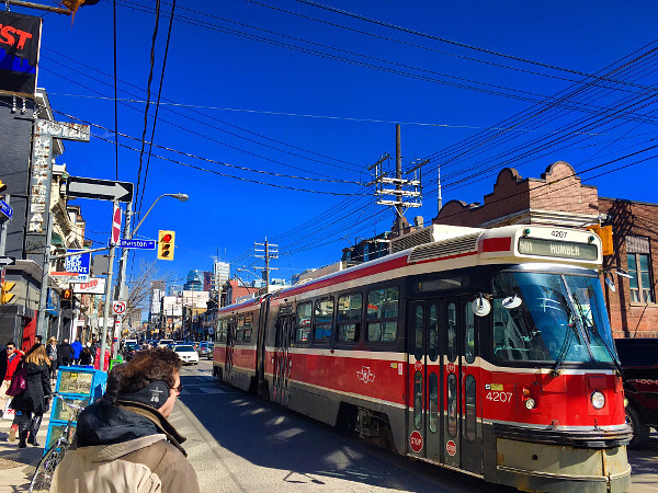 Streetcar on Queen Street in Toronto