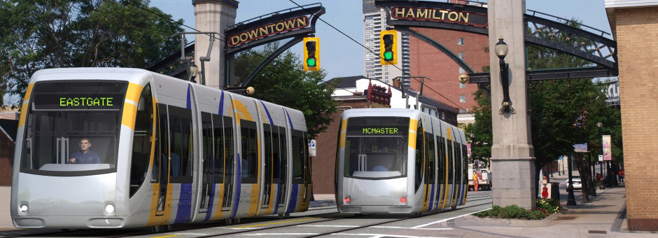 Light Rail Transit rendering on King Street at Wellington