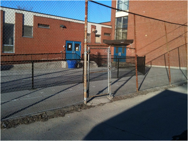 Entrance to St. Joseph's Roman Catholic Elementary School on Kirkendall Durand Alley.