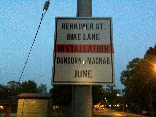 Notice: Herkimer Bike Lane Installation in June