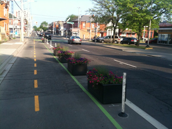 Planter boxes on Cannon Cycle Track
