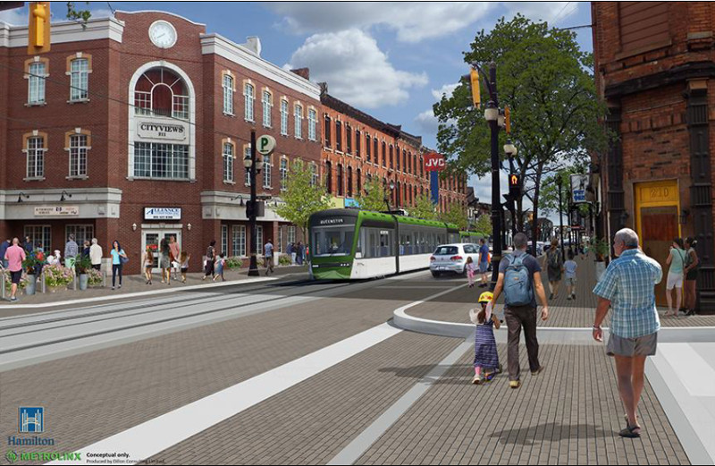 Rendering of LRT at King and Walnut