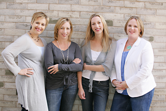 The Mabel's Labels co-founders (from L): Julie Ellis, Cynthia Esp, Julie Cole and Tricia Mumby