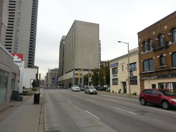 Main Street almost empty while traffic was backed up on King Street (RTH file photo)