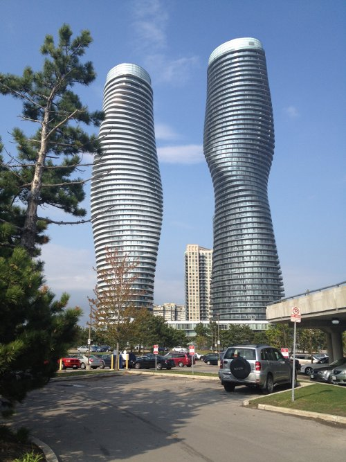 Absolute World, Mississauga, at 56 and 50 storeys (RTH file photo)