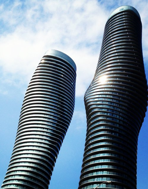 Close-up of the curvy 'Marilyn Monroe' towers