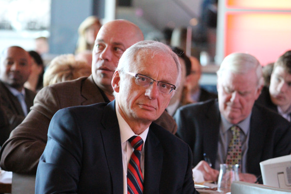 Bratina listening to former Transport Minister Glen Murray in March 2013 (Image Credit: Richard Allen)