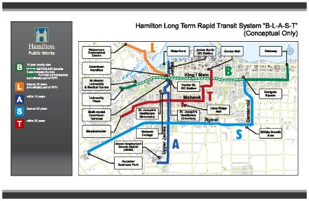 Proposed BLAST Rapid Transit Network: Click on the image to see larger