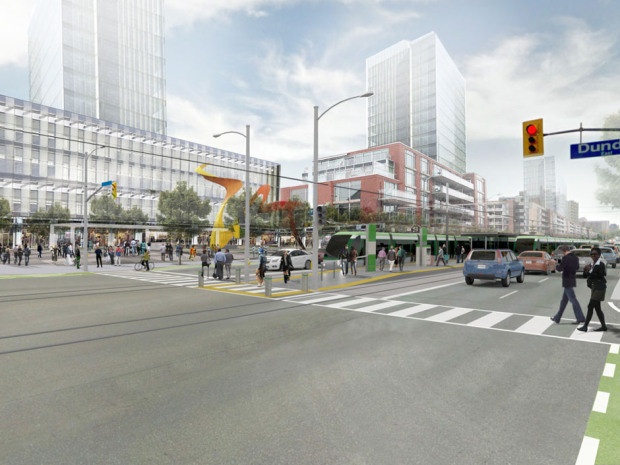 Rendering of Hurontario-Main LRT