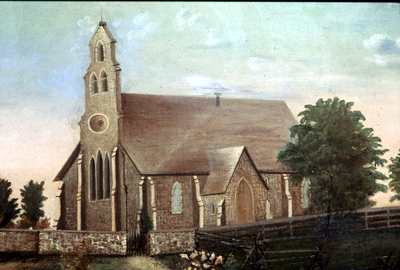 Fig. 1. St Peter's Anglican, Barton, 1851-1922, anonymous artist.