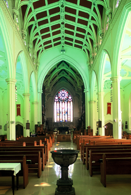 Fig. 3. Hamilton, Christ Church Cathedral, interior towards chancel.
