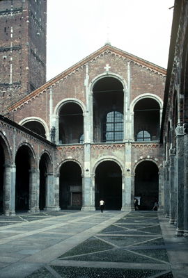 Fig. 11. Milan, Sant' Ambrogio, W front.