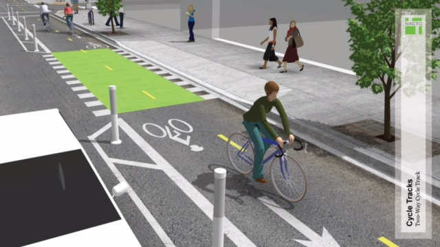 NACTO design guideline for conflict zones in cycle tracks