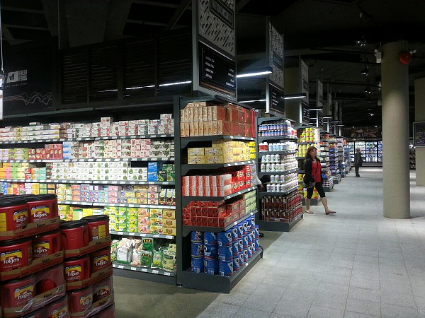 Main product aisles