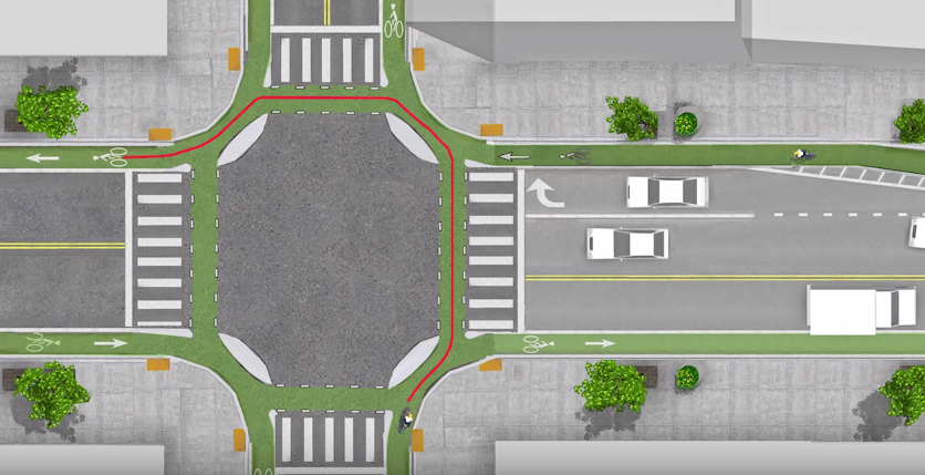 Dutch intersection design (Image credit: screen capture from YouTube video)