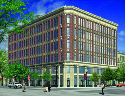 Rendering of LIUNA's latest plan for rebuilding the Lister Block