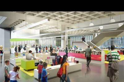 Rendering of renovated Central Library (click the image to see larger)