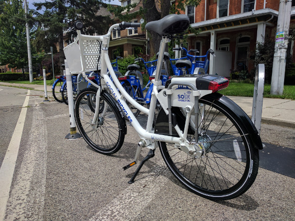 New Hamilton Bike Share ERI bike, view from rear