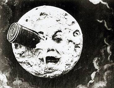 Georges Méliès: a frame from his technically groundbreaking and really silly 1902 film 'A trip to the Moon.'