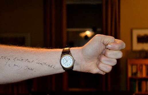Father's Arm: Photograph by Nora Fenton