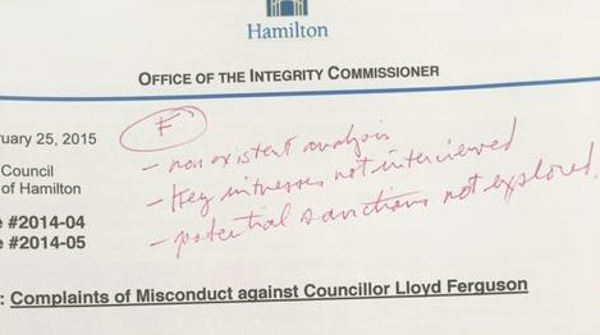 Ontario Ombudsman Andre Marin gives the Integrity Commissioner's report a failing grade (Image Credit: Andre Marin)