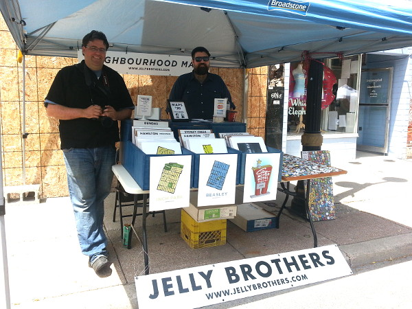 The Jelly Brothers, Matt and Dan, had a booth set up
