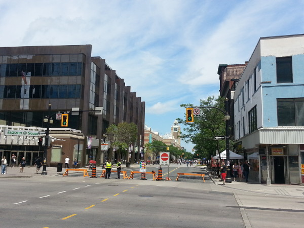 James Street North closed to automobile traffic at King